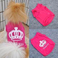 Pet Dog Vest Clothes T-shirt Cat Puppy Princess Crown Shirt Dog Apparel Free&Drop Shipping
