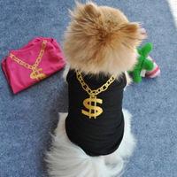 Pet Dog Breathable T-shirt Vest Puppy Pectoralis Bikini Flower Print Clothes Free&Drop Shipping