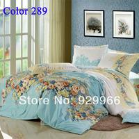 2014 4Pcs of bedding set luxury fashion bedspread ( duvet cover+flat sheet+2pillow case) full King size free shipping