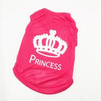 Pet Dog Vest Clothes XS S M L T-shirt Cat Puppy Princess Crown Shirt Dog Apparel Free&Drop Shipping