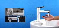 360 Degree Rotation Single Handle Chrome Mixer Faucet Brass White Bathroom Basin Faucet 3003
