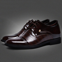 Men's Genuine Leather Dress Shoes New 2014 Classic & Fashion Oxford Business Shoes 7cm Heigh Increasing Loafer Shoes 2 Styles