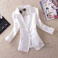 2014 spring female elegant slim candy color lace three quarter sleeve blazer suit outerwear