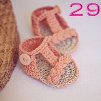 free shipping,Baby girls  Handmade Crochet Knit summer Sandals shoes  0-12months