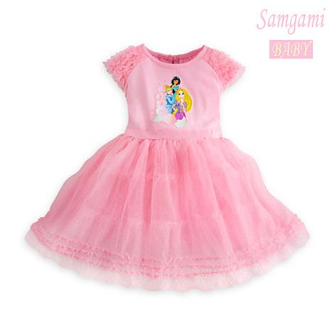 2014 New girls dress summer children baby caroon Snow White princess girls pink short sleeve dress kids cute dress free shipping(China (Mainland))
