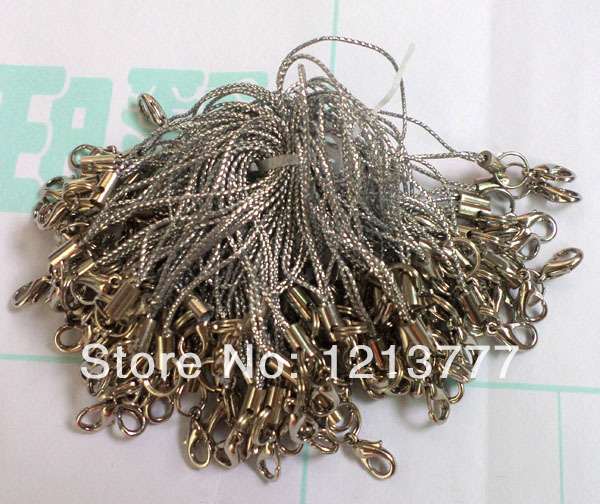 New 200 pcs Silvery white Mobile Cell Phone cords Strap Lariat Lanyard Lobster Clasp(China (Mainland))