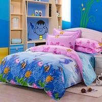100% cotton four piece set slanting 100% stripe cotton bedding duvet cover 220 240 180 220