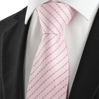 Min.order is $20 (mix order) Free shipping New Striped Pink Classic Men's Tie Necktie Wedding Party Holiday Prom Gift #1004