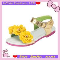 2014 In stock Summer 1pair white PU girl Children Sandals inner length 13.3-21.2cm,Super Quality Kids/Children Shoes