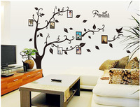 Free Shipping ( 2 pcs / lot ) PVC wall stickers  background stickers Photo frame tree