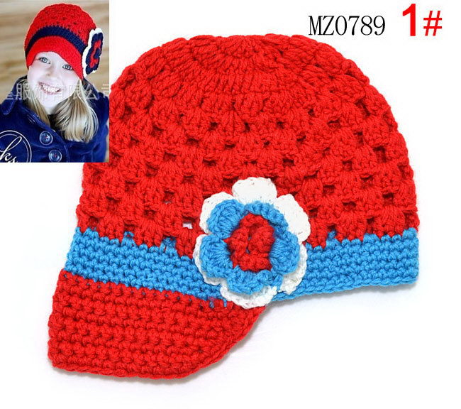 new Cartoon Designs wool Handmade Children Crochet Hats Styles Baby Beanie hat Kids cap children accessories Free shipping(China (Mainland))