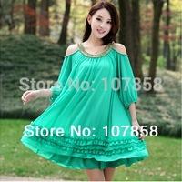 2014 New Summer Fashion Short sleeve Loose big yards Maternity Chiffon dress Pregnant women dresses #YH337