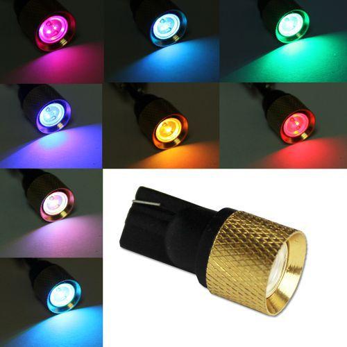 10 pcs/T10 Car RGB Flashling LED 194 W5W 1.5W Wedge Corner Light Bulb Lamp HP 2V DC(China (Mainland))