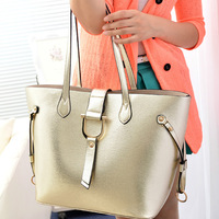 2014 fashion big capacity metal quality the trend of the picture bags