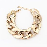 Min. order is $10(mix) vintage new gold women bracelet  2014 chunky chain bracelets & bangles fashion jewelry wholesale