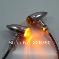 1 Pair Mini Bullet led motorcycle White Turn signal/Indicator Light