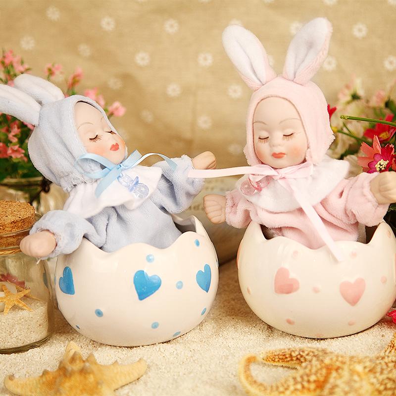 Dume presentes bobble cerâmica namorada boneca cabeça caixa de música de música caixa de presente de aniversário presente de ano novo(China (Mainland))