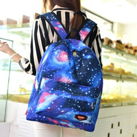New Dream Star Harajuku Style Canvas Shoulder Bag Schoolbag Cartoon Boys and Girls Fashion Animation Printing Backpacks