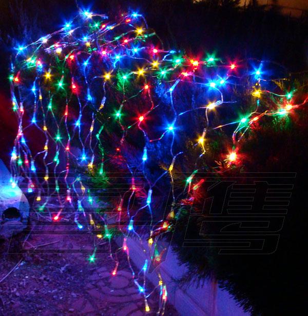 Free shipping Holiday lights christmas decoration garden light garden lights led flasher 1.2 1.5 meters net lights(China (Mainland))