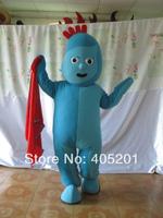 POLYFOAM high quality costume custom famous cartoon blue piggle mascot costumes iggle piggle costumes hot sale cartoon costumes