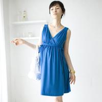 V-neck Sleeveless Maternity Nursing Breast Feeding Cotton Two Piece Dress/Vestido/Tops/Tee Pregnant Clothes Wear 2014 New Summer