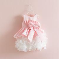 robe enfant  children's summer clothing female child princess dress flower girl child dress wedding dress baby puff skirt