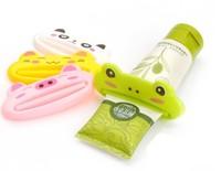 1pcs Lovely Design Animal Bathroom Dispenser Plastic cartoon Toothpaste Squeezer Light Weight
