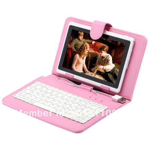 "16gb irulu 7"" tablet pc android 4.1 dual-cam cortex a9 1,2 ghz w/rosa tastatur"