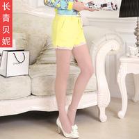 2014 high waist shorts female candy color casual culottes plus size skorts shorts  shorts women high waist shorts short