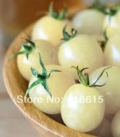 100 Tomato Seeds, Italian Ice Hybrid Heirloom non-GMO Ice White Cherry Tomato seeds Cooling Taste Sensation,Plus Mysterious Gift