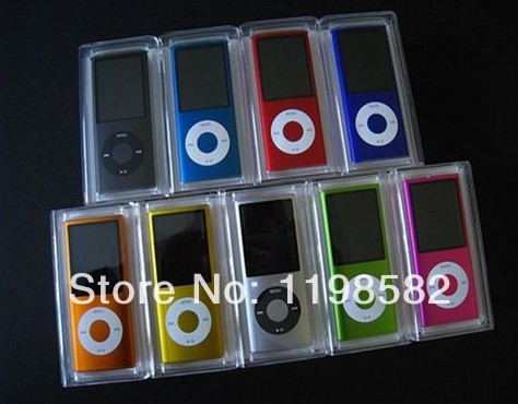 "Gros colorés minces. 4th 1.8"" 8g lcd mp3/mp4 avec radio fm"