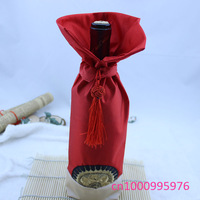 wholesale 10 PCS China cheongsam Wine bottle packaging gift decoration clothes style, free shipping