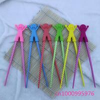 Wholesale 10 pcs children learning chopsticks High quality plastic toy infant sculpture chopsticks Free shipping