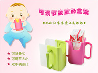 2PC Cut KidsToddler milk bracket ,Retractable folding Infant learn to drink cups,prevention spill drink boxes 2 Colors 870025