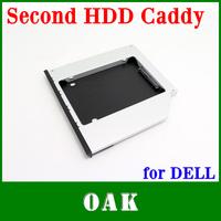 Free Shipping - Aluminum 12.7mm SATA to SATA Second HDD Caddy 2nd HDD Hard Dist Drive SATA Caddy for Dell E6400/E6500/E4500