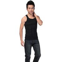 Men's Elastic Body Shapping Shaper Slim Slimming T Shirts Undergarment Vest Shirt