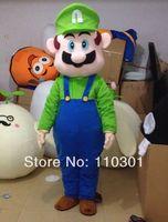 HOT SELL! Super Mario Lugi mascot costume customized 3 characters mascot animal costume school mascot fancy dress costumes