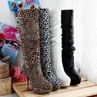 New arrival free shipping high heels ankle half boots platform women fashion shoes P414 factory hot price size 34-39
