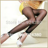 free ship 3pcs/lot seamless glossy black nylon women charming leggings transparent collant