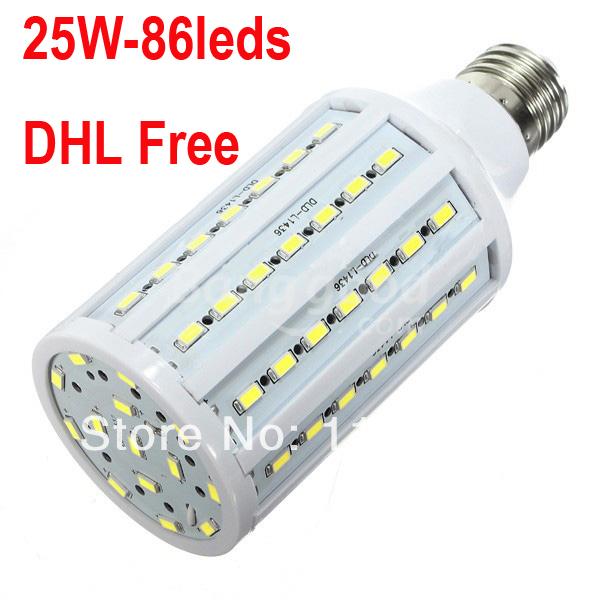 Wholesale Price LED Corn Light E27 25W 5730 SMD LED Corn Bulb AC110V/220V Warm White/Cold White DHL free 50pcs/lot(China (Mainland))