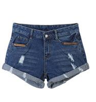 New 2014 Fashion Sexy Plus Size Denim Jeans Hot Hole Shorts