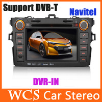 7inch 2DIN Car DVD Player Special For Corolla 2007-2010,With GPS Navitel//AM/FM/AV-IN/USB/SD,Support DVB-T Car Radio Stereo