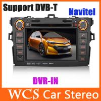 7inch Car DVD GPS Radio Audio Stereo Player For Toyota Corolla 2007-2010 Gps Navi Navigation System Car Pc Autoradio Head Unit