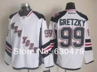 Cheap stitched 2014 Stadium Series New York Rangers 99 Wayne Gretzky Ice Hockey Jersey /shirt