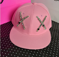 Free Shipping Wholesale lovely cute shiny letter printing hip-hop cap novelty leisure hat summer caps for men and women