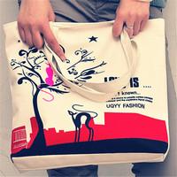 Free Shipping!! Womens Handbags Canvas Bag Fashion lady Shopping Bag Single Shoulder Bags Medium
