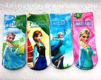 "12pairs/lot length18cm 7"" frozen baby & kids sport knitted children's socks for girls, cartoon girls sock,kids accessories"