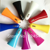 Wholesale 500pcs Colorful Dual USB Car Charger 2 in 1 charger adapter for smartphone for iPhone for samsung free DHL/Fedex