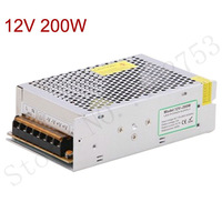 Switching power supply 12v dc 200w 1pcs free shipping 100% new led driver ac dc converter charger 220V transformer power source