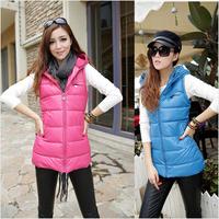 3XL Autumn and Winter Plus Size Women Vest PU With A Hood Vest Leather Jacket Waistcoat Slim Down Cotton Vest Women,Slim Ladies